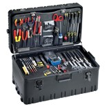 Jensen Tools JTK-91LW Inch Electro-Mech. Installer's Kit in Roto-Rugged™ Wheeled Case