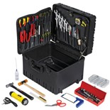 Jensen Tools Inch Electro-Mech. Installer's Kit in Roto-Rugged™ Wheeled Case