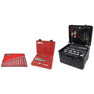 Jensen Tools JTK-94WD Deluxe Industrial Tool Kit in Roto-Rugged™ Wheeled Case, 17-3/4 x 14-1/2 x 12""