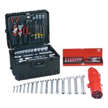 Jensen Tools Deluxe Industrial Tool Kit in Roto-Rugged™ Wheeled Case, 17-3/4 x 14-1/2 x 10""