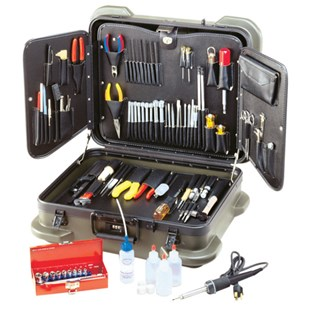 Jensen Tools JTK-99R Electronic Technician's Service Kit in Rugged Duty Poly Case