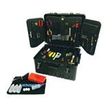 Jensen Tools Electronic Technician's Service Kit in Wheeled Case