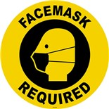 """Techni-Tool FS-17-708 Facemasks Required Sign, 17"""" diameter"""