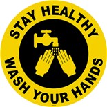 """Techni-Tool FS-17-710 Stay Healthy, Wash Your Hands Sign, 17"""" diameter"""