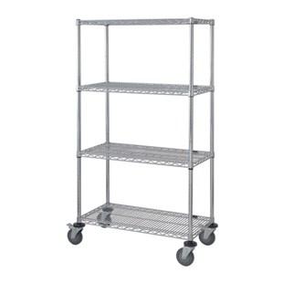 "TestEquity TST-MSU1842-4 Mobile Wire Shelf Cart, 18"" x 42"" x 74"""
