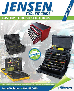 JENSEN Tools + Supply's 2017 Tool Kit Guide offers expanded custom tool control and tool kitting for military, manufacturing and field service professionals