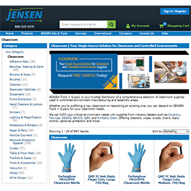 TestEquity/JENSEN Tools + Supply Launches New Comprehensive Cleanroom Supplies Site to Meet Critical and Controlled Environment Needs