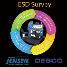 JENSEN Tools + Supply Partners with DESCO to Offer Free ESD Control Survey to Its Customers
