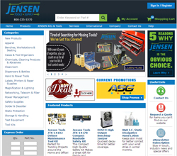 JENSEN Tools + Supply Announces Revamped Website and Enhanced Shopping Cart Features for Improved User Experience