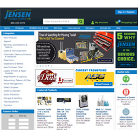 JENSEN Tools + Supply Web site
